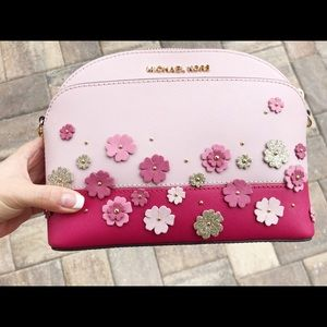 2ab5ad9af06f3f Michael Kors Bags - Michael Kors Emmy Pink Floral Crossbody Small